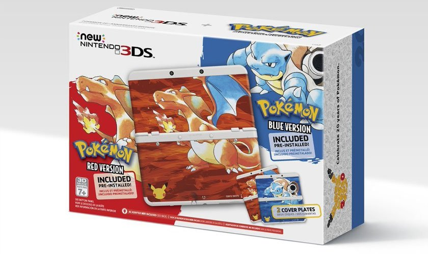 Nintendo 3DS Red Version y Blue Version