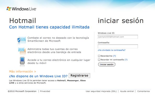 entrar a Hotmail