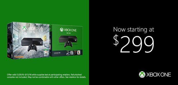 xbox one a $299 e3 2016