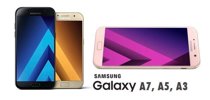 samsung galaxy a7, galaxy a5, galaxy a3
