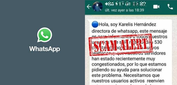 estafa con whatsapp