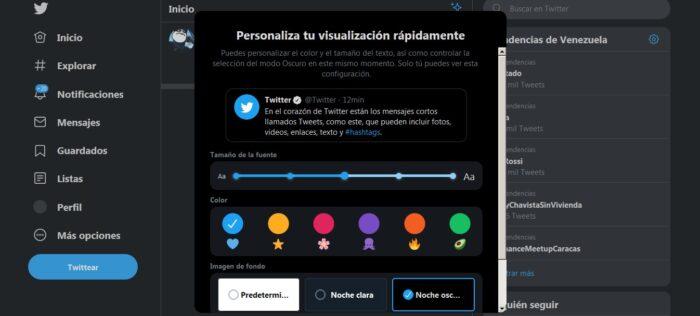 Personalizar Twitter