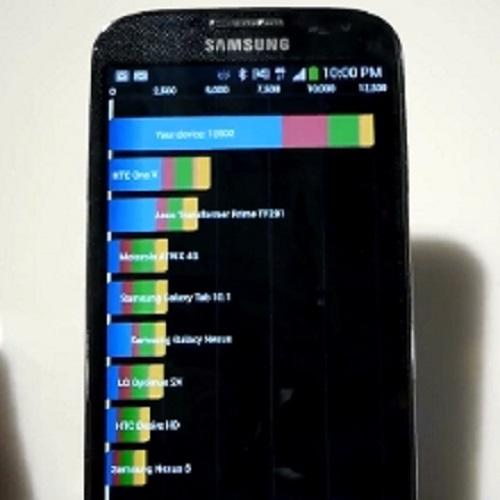 El Galaxy S4 era menos potente de lo que Samsung decia dado a que se falsificaba la puntuación en pruebas de rendimiento