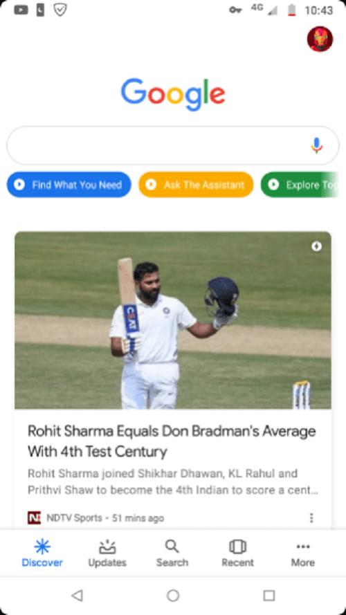 Nueva interfaz de la app Google muestra reemplazo de Voice Search