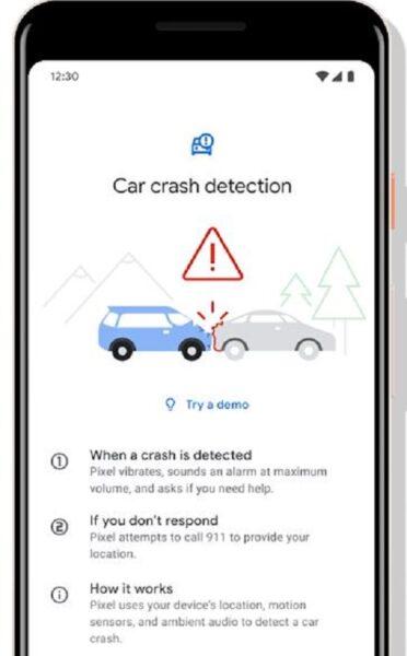 Pixel 4 tiene un modo para detectar choques de automoviles