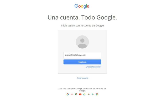 Iniciar sesion en cuenta de Gmail.com diferente a la nuestra