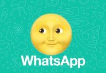 emoji de la luna sonriente