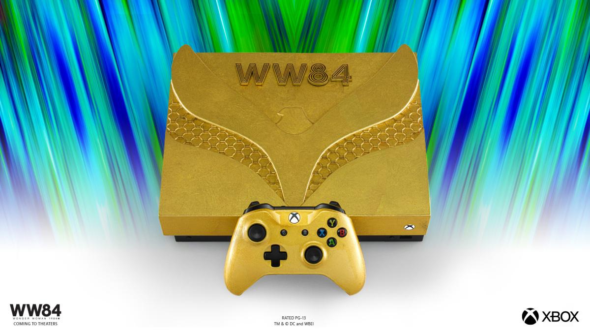 Microsoft presenta tres consolas Xbox One X de Wonder Woman 1984