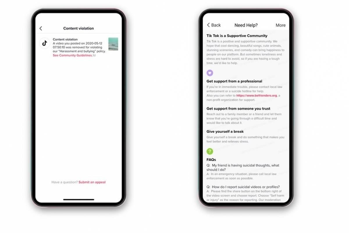 TikTok notificará a los usuarios las razones de la eliminación de algún vídeo