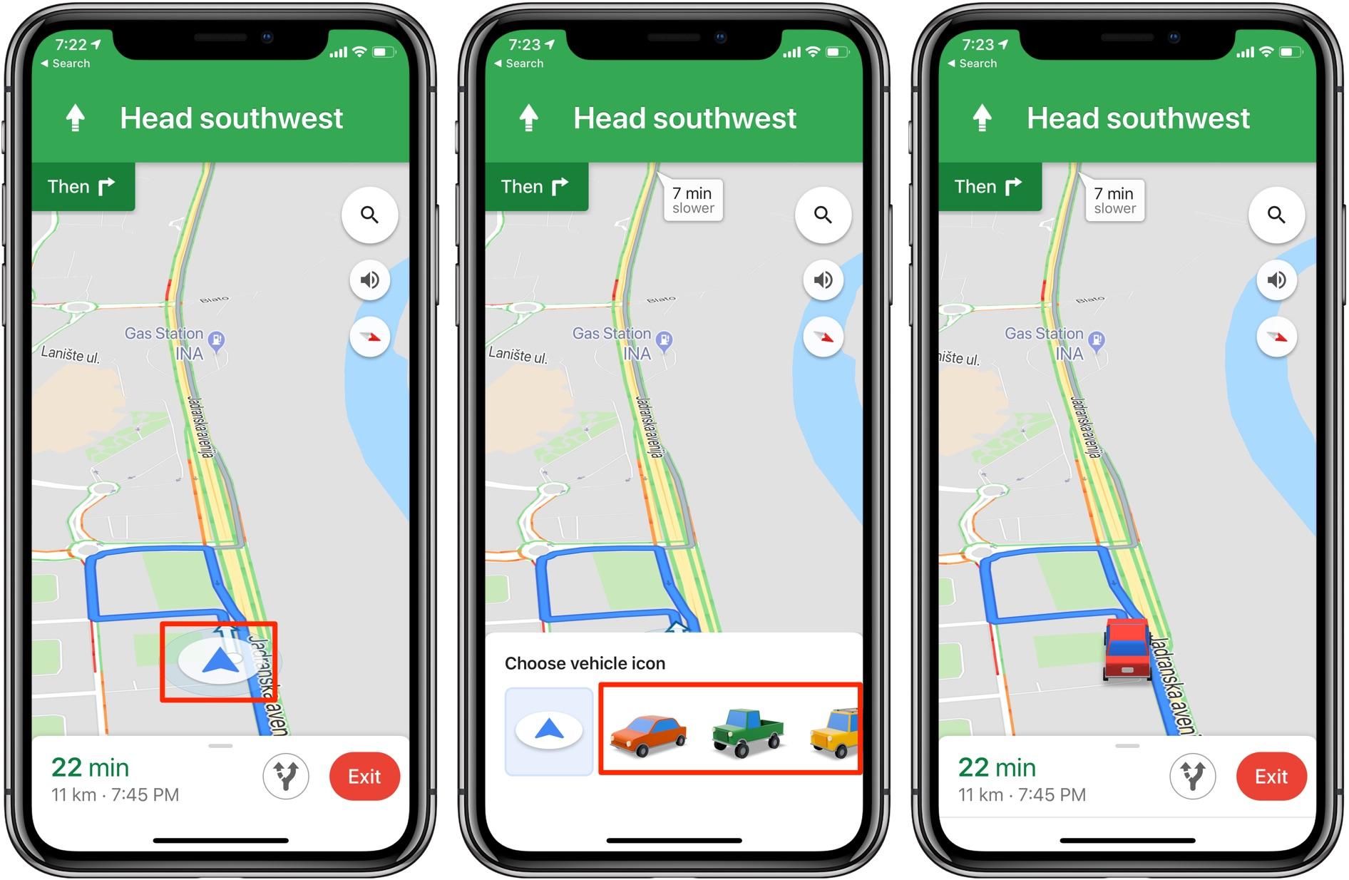 ¿Lo notaste? Google Maps para Android ha agregado nuevos íconos de vehículos