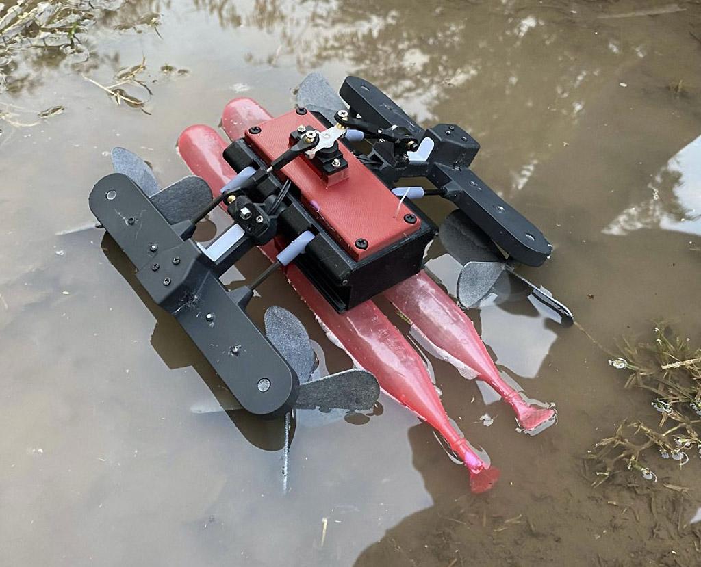 El robot AmphiSTAR inspirado en un basilisco lagarto puede gatear a alta velocidad sin importar el terreno