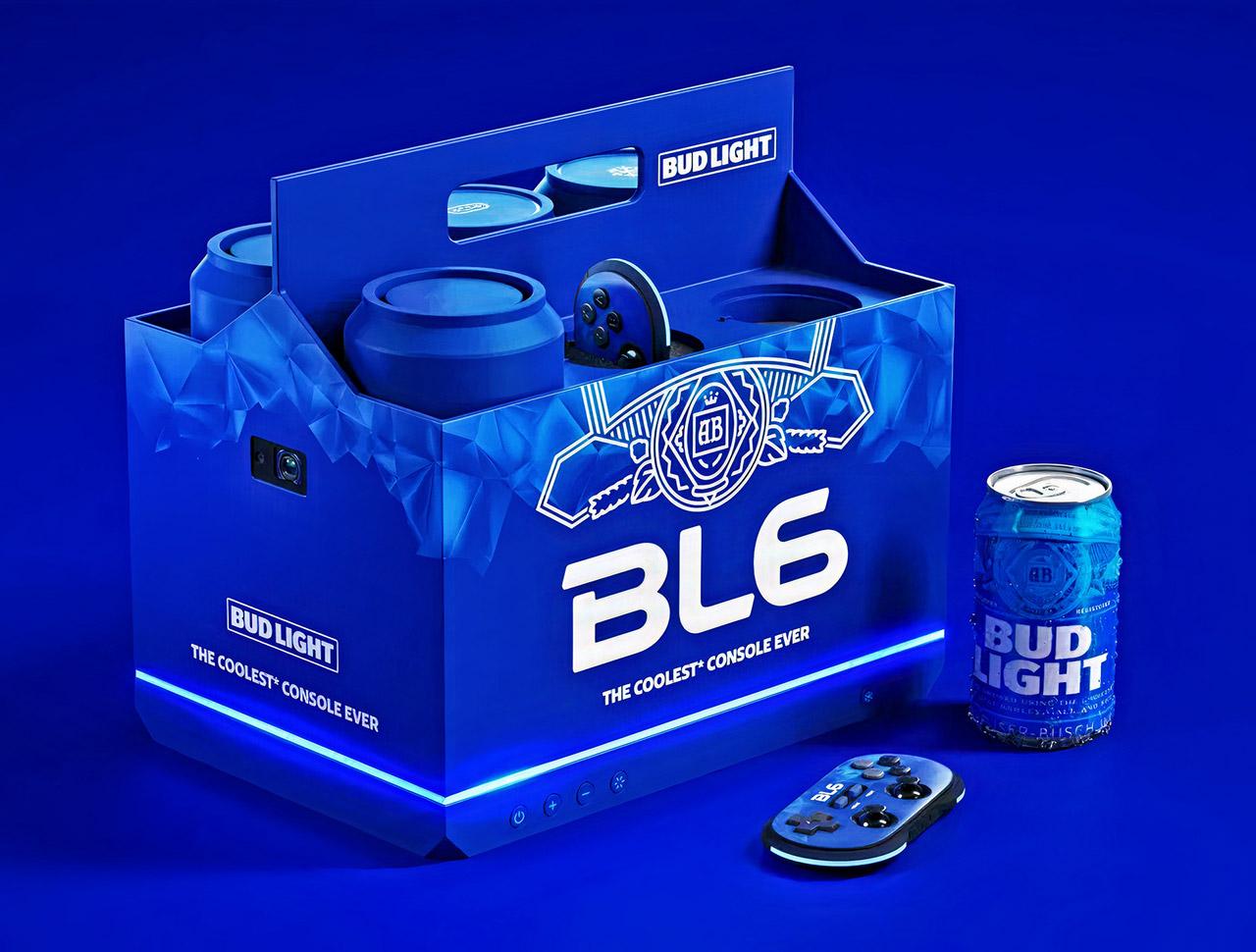 ¡Icreíble! Bud Light BL6, la consola de videojuegos con bebidas frias más genial
