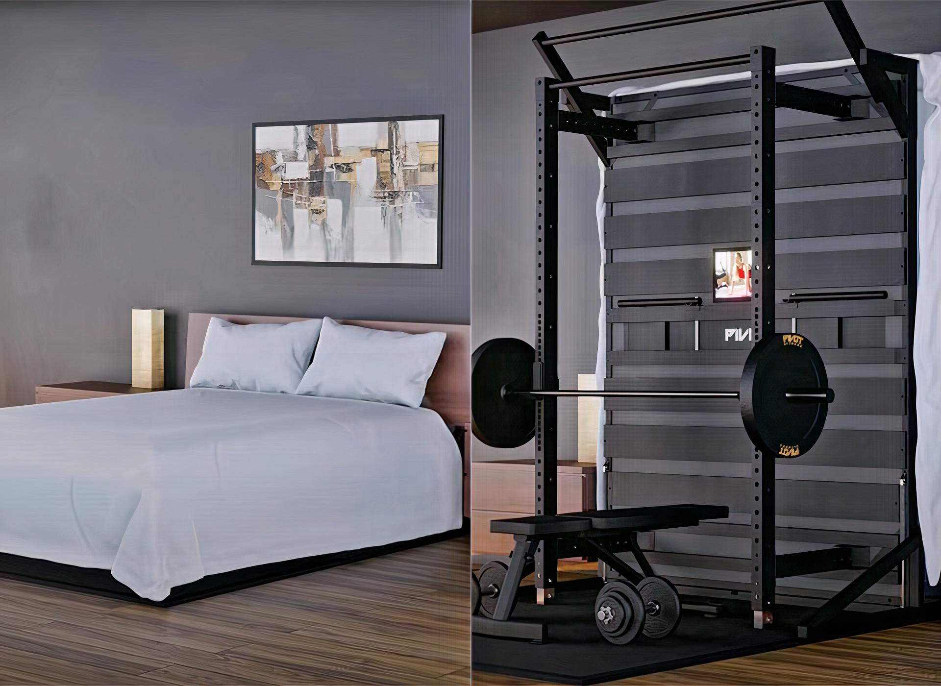 ¡Increíble! Una cama con soporte eléctrico que funciona como gimnasio