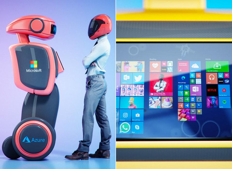 ¡Atento! Los futuros robots autónomos de Microsoft pueden estar impulsados por inteligencia artificial y la nube de Azure