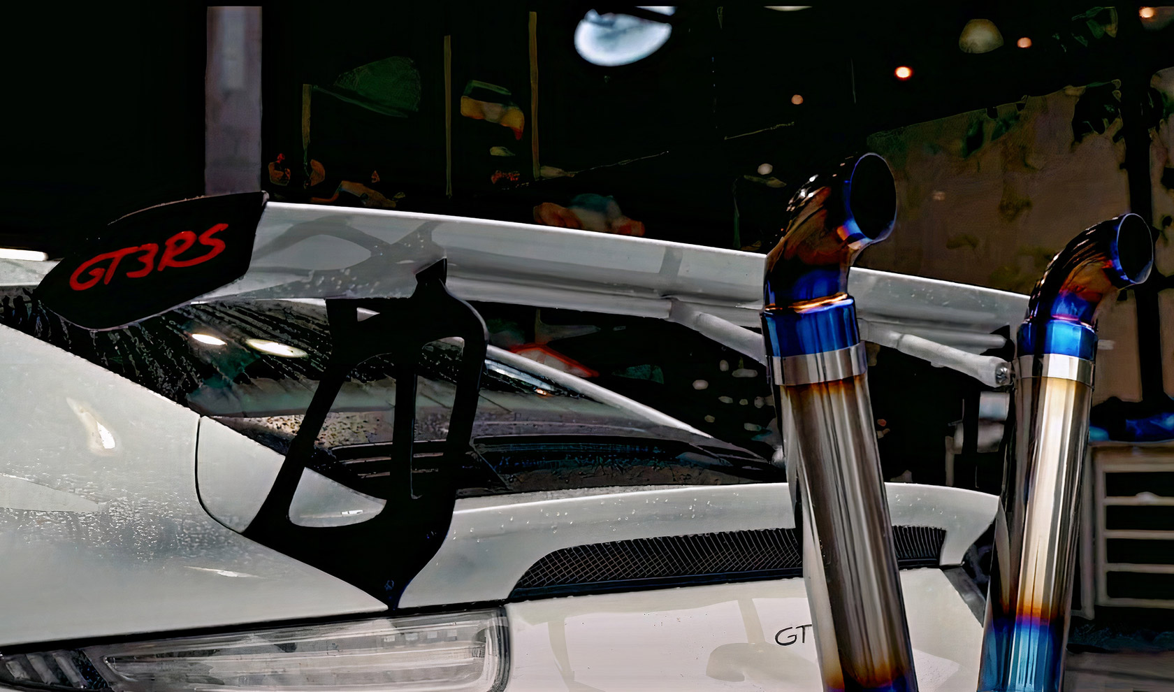 El Porsche 911 GT3 RS modificado posiblemente podría tener el sistema de escape estilo Bōsōzoku más diferente hasta ahora