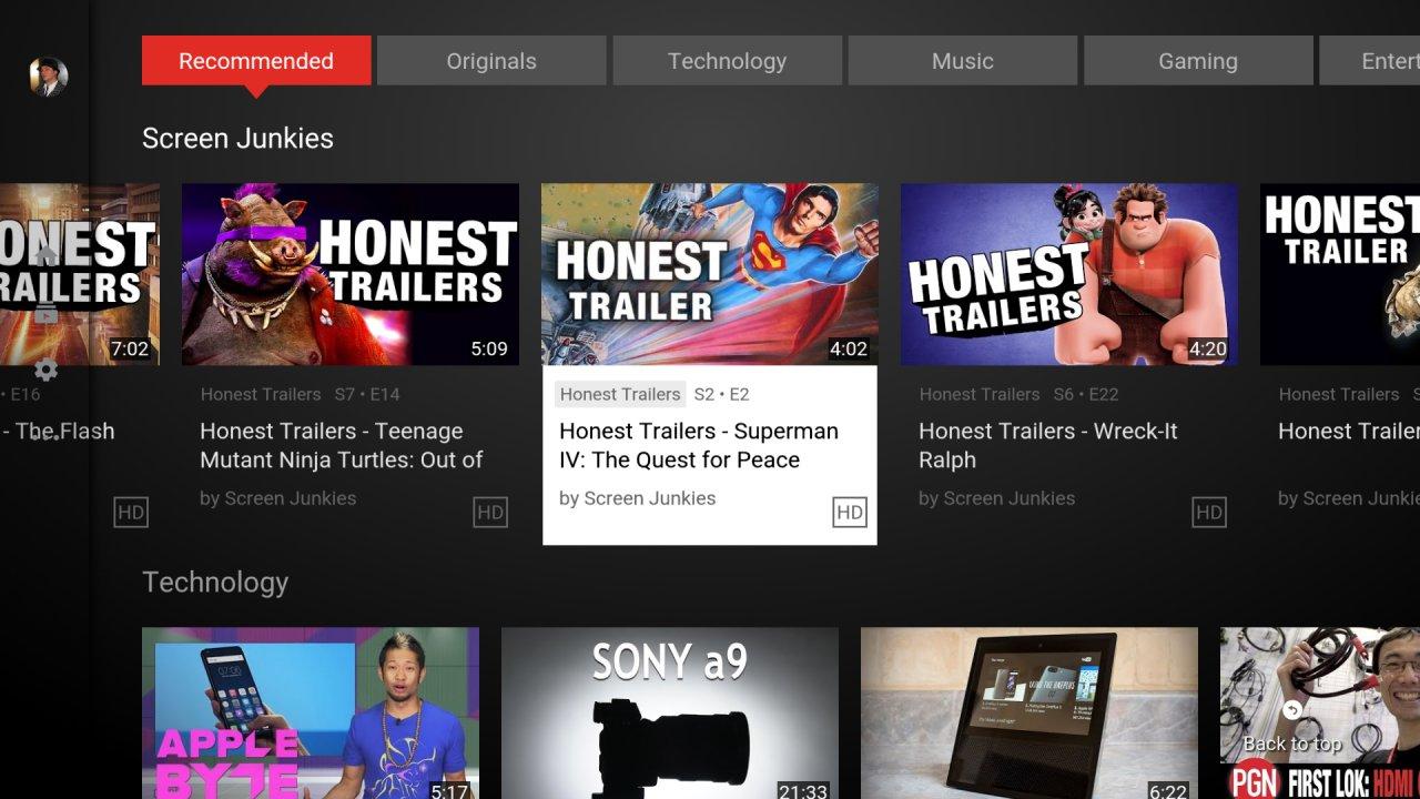 YouTube para Android TV actualiza su versión y permite streaming en 8k