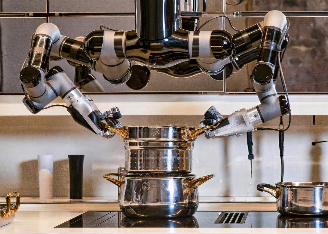 Moley Robotics presenta la primera cocina robótica y hasta limpia