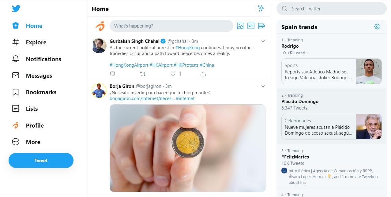 Twitter anuncia que se puede usar autentificación de dos factores basadas en claves de hardware