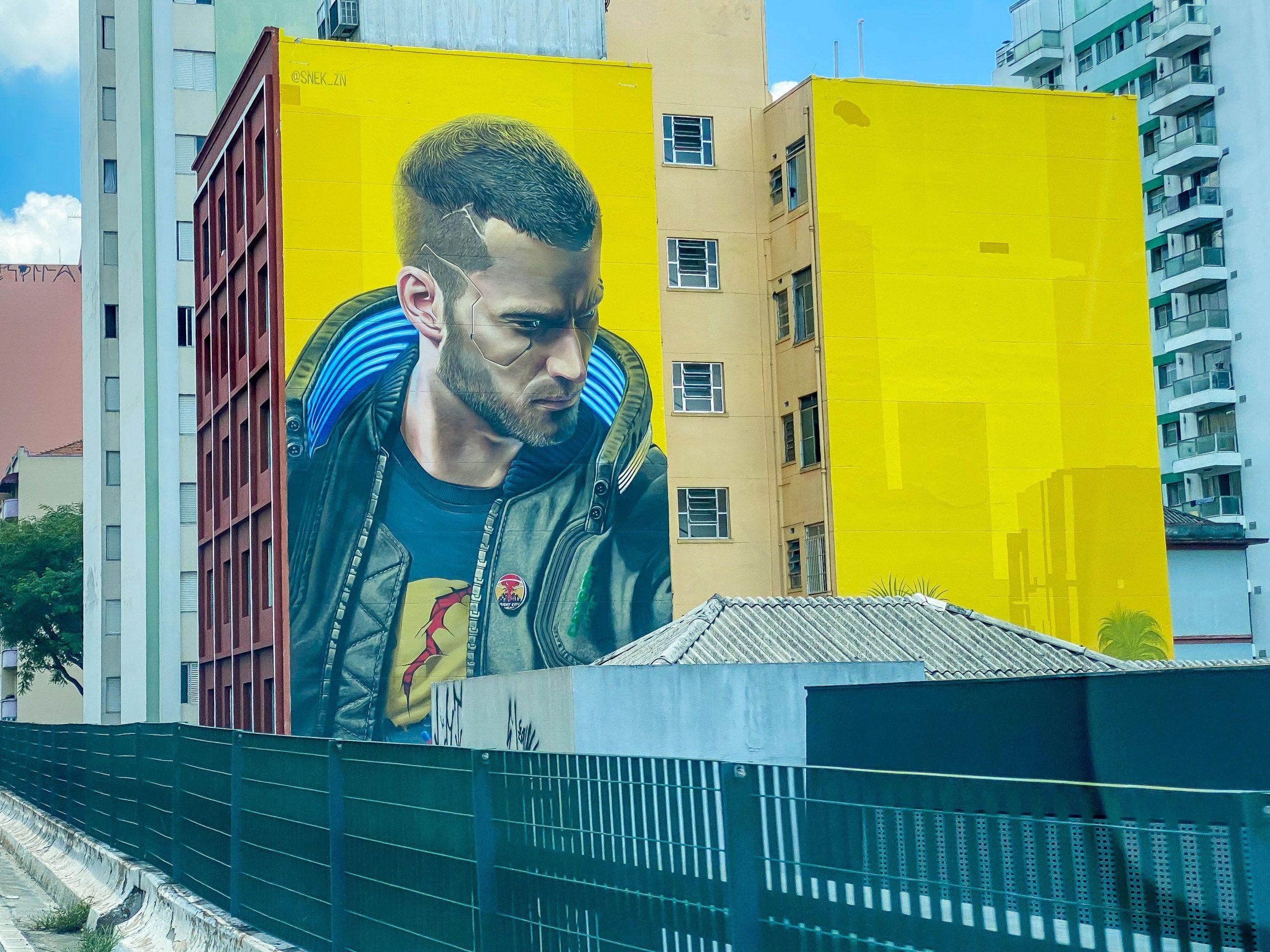 Empresa es multada por mural publicitario de Cyberpunk 2077 en Brasil