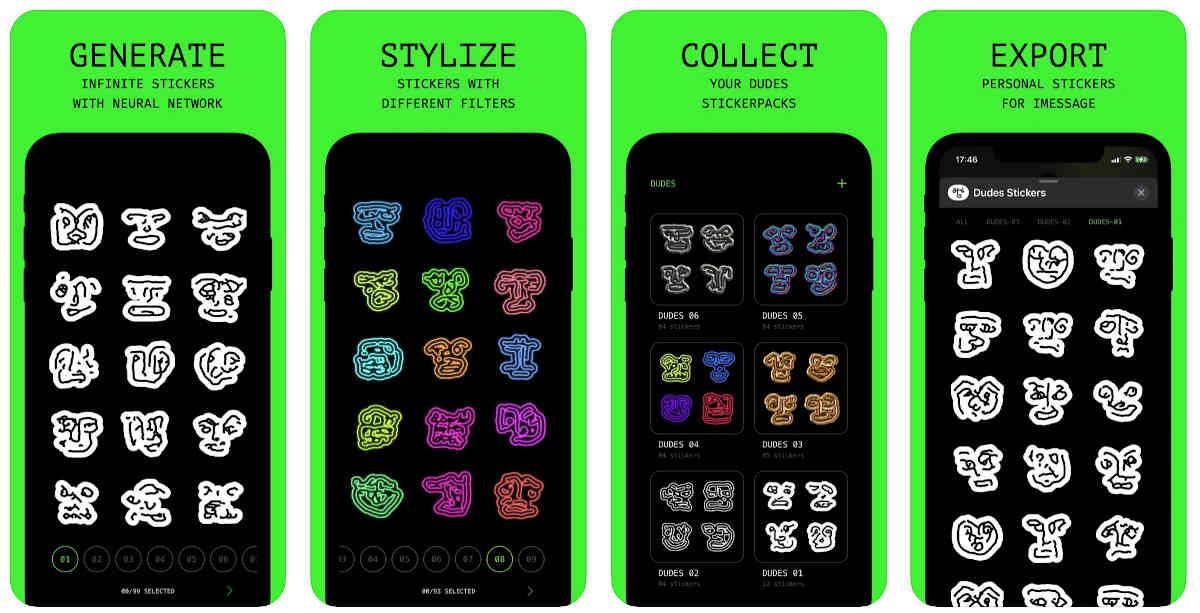 Dudes, la app que utiliza IA para crear stickers