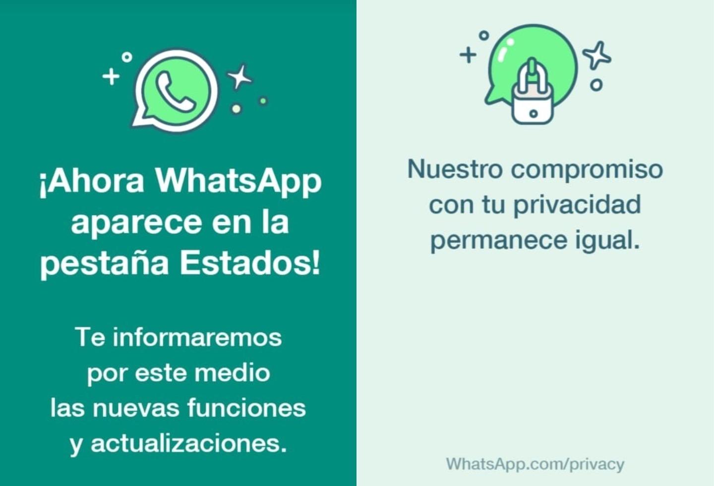 WhatsApp información usuarios a través de estados
