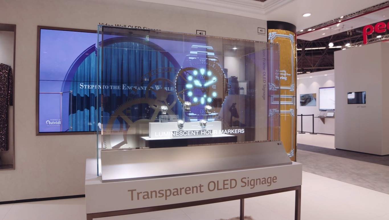 Vea el televisor OLED transparente de LG directamente desde CES 2021