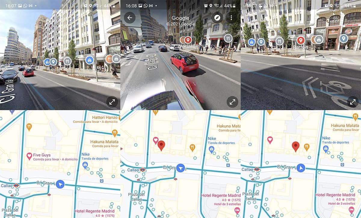 Google Maps permite pantalla dividida en Street View